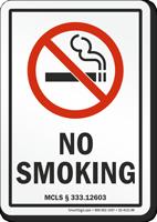 Michigan No Smoking Sign