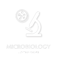 Microbiology TactileTouch Braille Hospital Sign