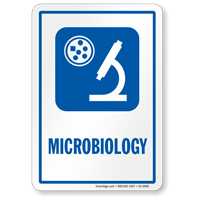 Microbiology Hospital Sign with Symbol