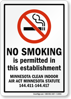 No Smoking Is Permitted This Establishment Sign