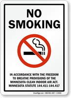 No Smoking In Accordance With Freedom Sign