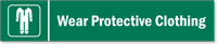 Wear Protective Clothing Stacking Magnetic Door Sign