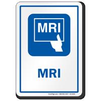 MRI Diagnostic Center Sign, Magnetic Resonance Imaging Symbol