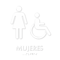 Mujeres TactileTouch Braille Restroom Sign