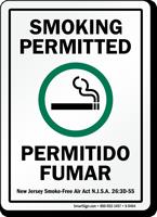 Bilingual Smoking Permitted Permitido Fumar Sign