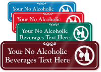 No Alcoholic Beverages Symbol Sign
