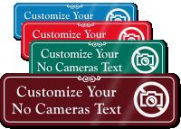 No Cameras Symbol Sign