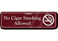 No Cigar Smoking Allowed Showcase Wall Sign