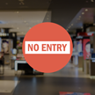 No Entry Die Cut Glass Window Decal