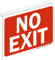 No Exit (white on red)