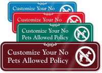 No Pets Allowed Symbol Sign