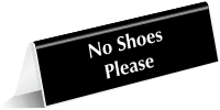 No Shoes Please OfficePal Tabletop Tent Sign