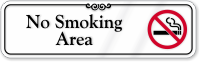No Smoking Area Showcase Wall Sign