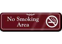 No Smoking Area Sign