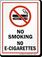 No Smoking No E-Cigarettes, Prohibited Sign