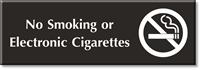 No Smoking Or Electronic Cigarettes Engraved Sign