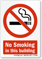 No Smoking in this Building Graphic Sign