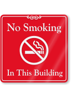 No Smoking In This Building ShowCase Wall Sign