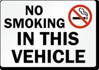 No Smoking In This Vehicle (symbol) Sign