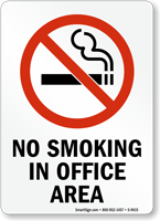 No Smoking In Office Area (symbol) Sign