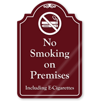 No Smoking On Premises ShowCase Sign