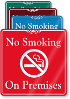 No Smoking On Premises ShowCase Wall Sign
