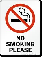 No Smoking Please (symbol) Sign