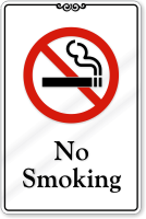 No Smoking (with No Smoking symbol)