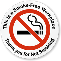 This is a Smoke-Free Workplace Window Decal
