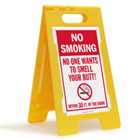 No Smoking Within 30 Feet Floor Sign