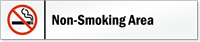 Non-Smoking Area Stacking Magnetic Door Sign