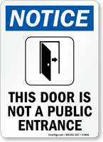 This Door Is Not A Public Entrance Sign