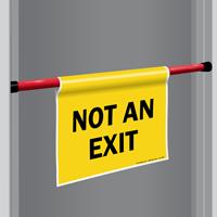 Not An Exit Door Barricade Sign