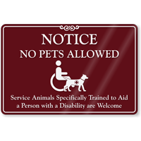 Notice No Pets Allowed ShowCase Sign