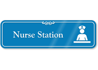 Nurse Station Showcase Hospital Sign with Graphic