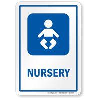Nursery Sign with Baby Symbol