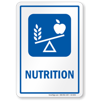 Nutrition Hospital Sign with Balanced Diet Symbol