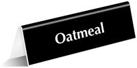 Oatmeal Tabletop Tent Sign