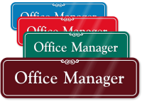 Office Manager Sign
