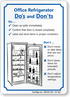 Office Refrigerator Dos And Do Nots Sign