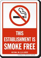 Oklahoman Smoking Sign