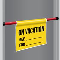 On Vacation Door Barricade Sign