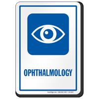 Ophthalmology Hospital Sign with Eye Symbol