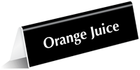 Orange Juice Tabletop Tent Sign