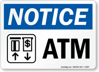 OSHA Notice Atm Sign