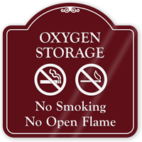 Oxygen Storage No Smoking ShowCase Sign