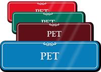 PET Showcase Hospital Sign