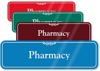 Pharmacy Showcase Hospital Sign