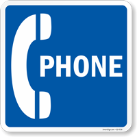 Phone Emergency Telephone Symbol Sign