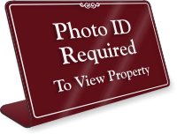 Photo ID Required To View Property